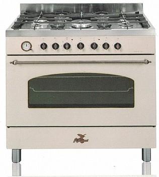 להפליא תנור משלב כיריים מקצועי BOMPANI בומפני רוחב 90 סמ דגם BO684AH UY-82